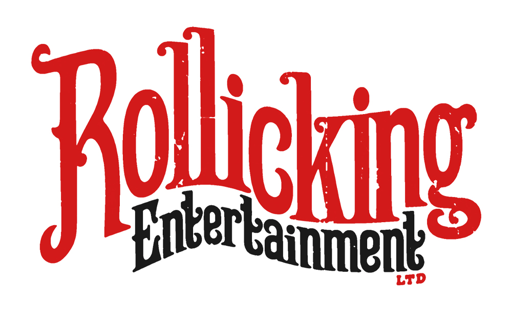 RollickingEntertainment logo for Messy magic and Mr and mrs alex