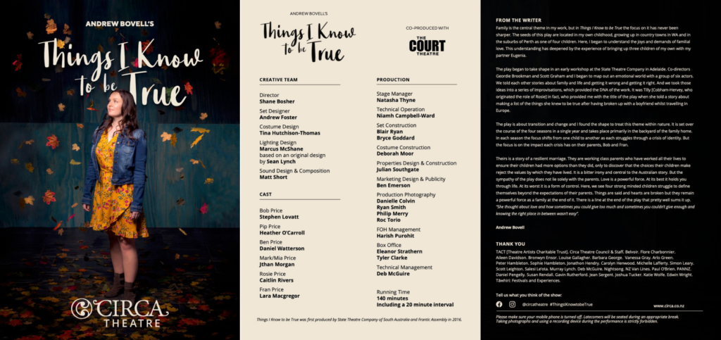 Things I Know to be True digital programme.
